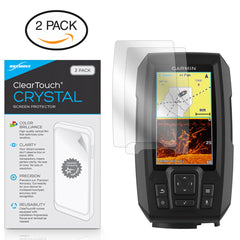 ClearTouch Crystal (2-Pack) - Garmin Striker Plus 4cv Screen Protector