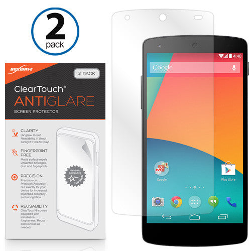 ClearTouch Anti-Glare (2-Pack) - Google Nexus 5 Screen Protector