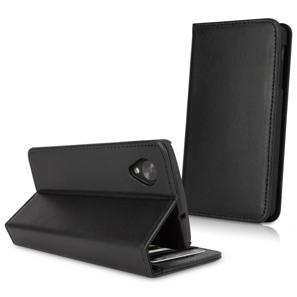 Designio Leather Wallet Case - Google Nexus 5 Case