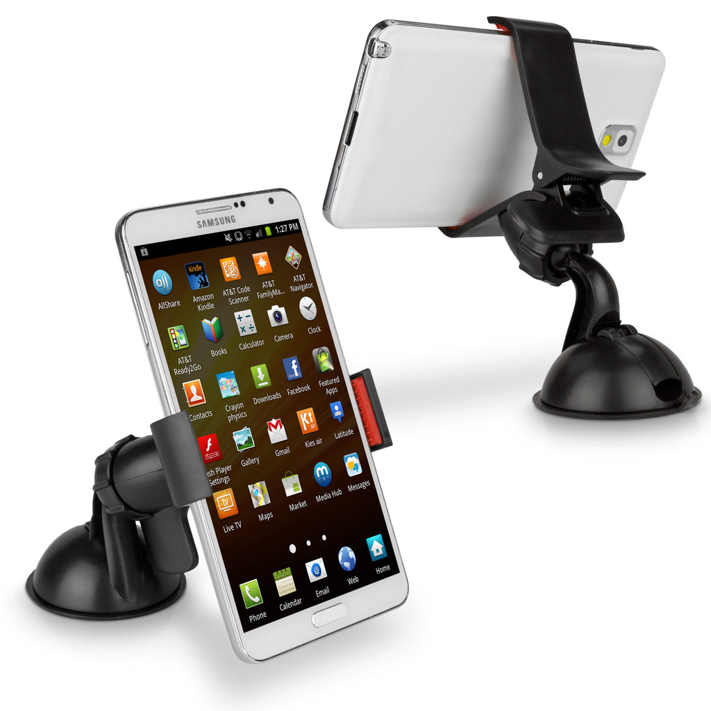 HandiGrip Car Mount - Samsung Galaxy Note 2 Stand and Mount