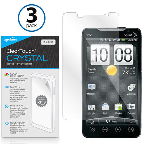ClearTouch Crystal (3-Pack) - HTC EVO 4G Screen Protector