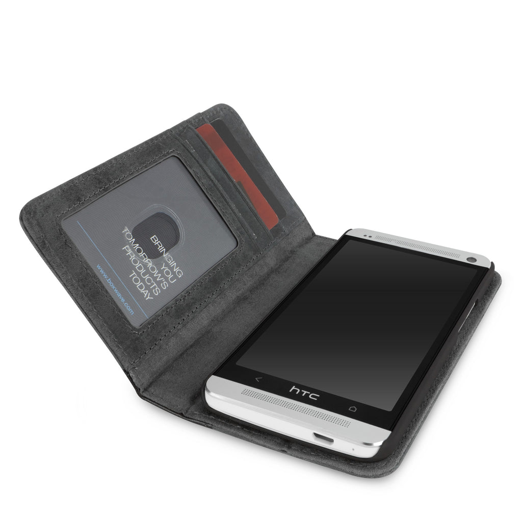 Classic Book Case - Slate Grey - HTC One (M7 2013) Case