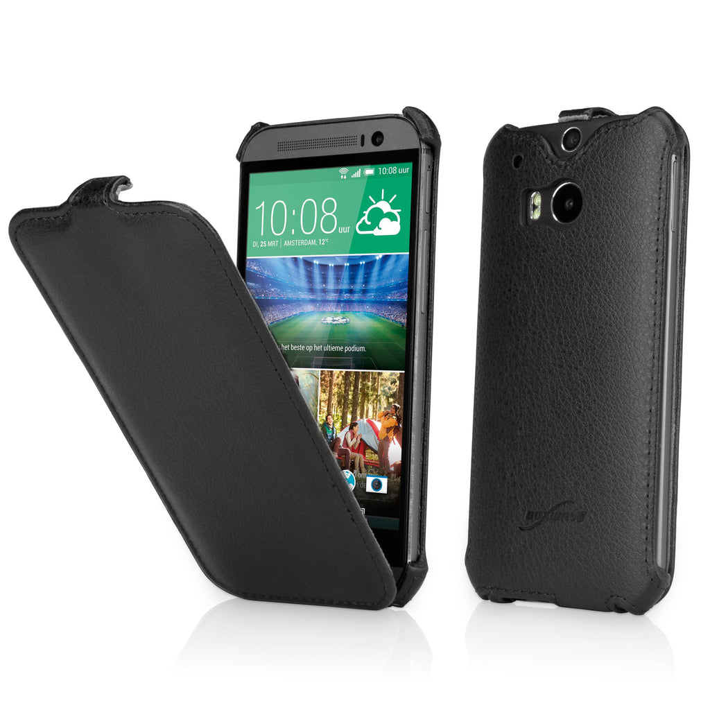 Leather Flip Case - HTC One (M8 2014) Case