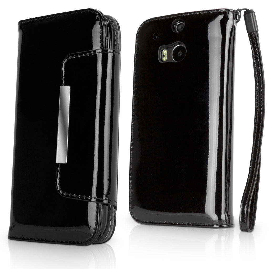 Patent Leather Clutch Case - HTC One (M8 2014) Case
