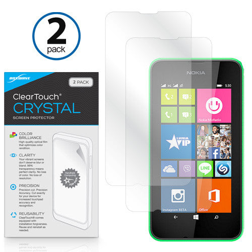 ClearTouch Crystal (2-Pack) - Nokia Lumia 530 Screen Protector