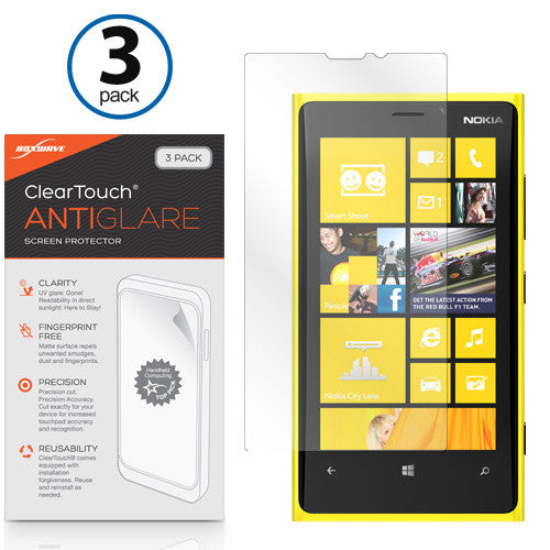 ClearTouch Anti-Glare (3-Pack) - Nokia Lumia 920 Screen Protector