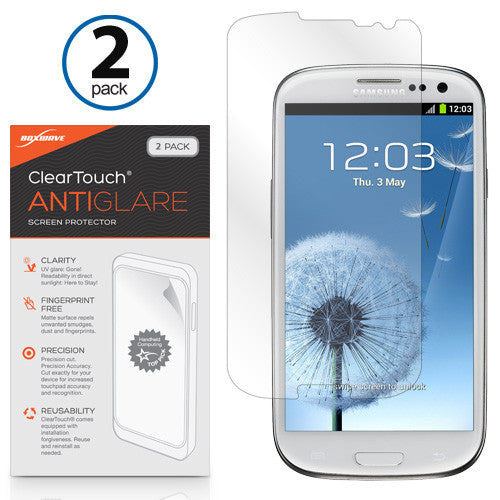 ClearTouch Anti-Glare (2-Pack) - Samsung Galaxy S3 Screen Protector
