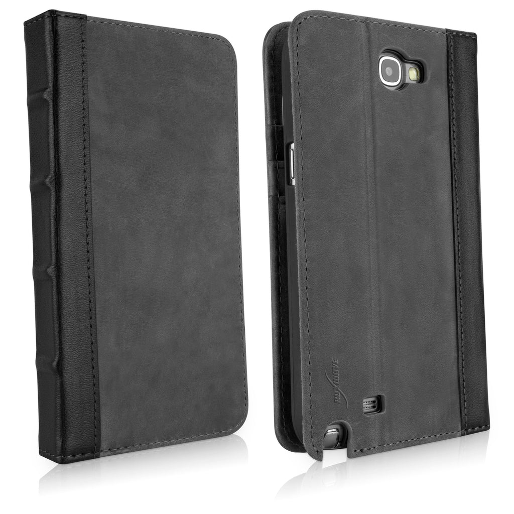 Classic Book Case - Slate Grey - Samsung Galaxy Note 2 Case