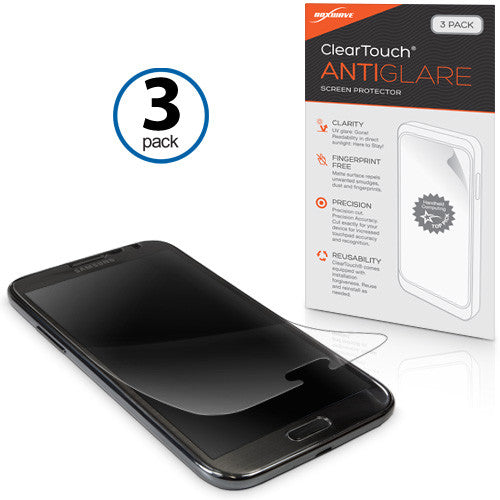 ClearTouch Anti-Glare (3-Pack) - Samsung Galaxy Note 2 Screen Protector
