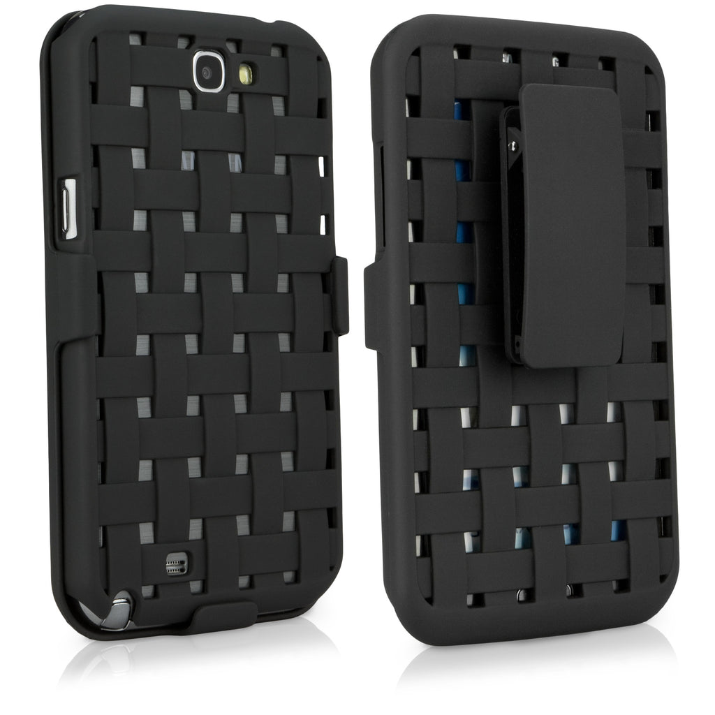 Dual+ Holster Case - BlackWeave - Samsung Galaxy Note 2 Holster