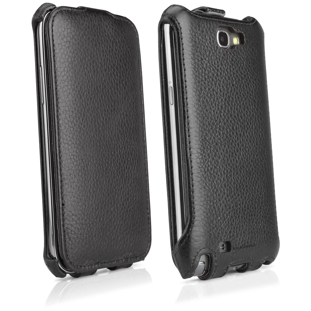Nero Leather Flip Case - Samsung Galaxy Note 2 Case