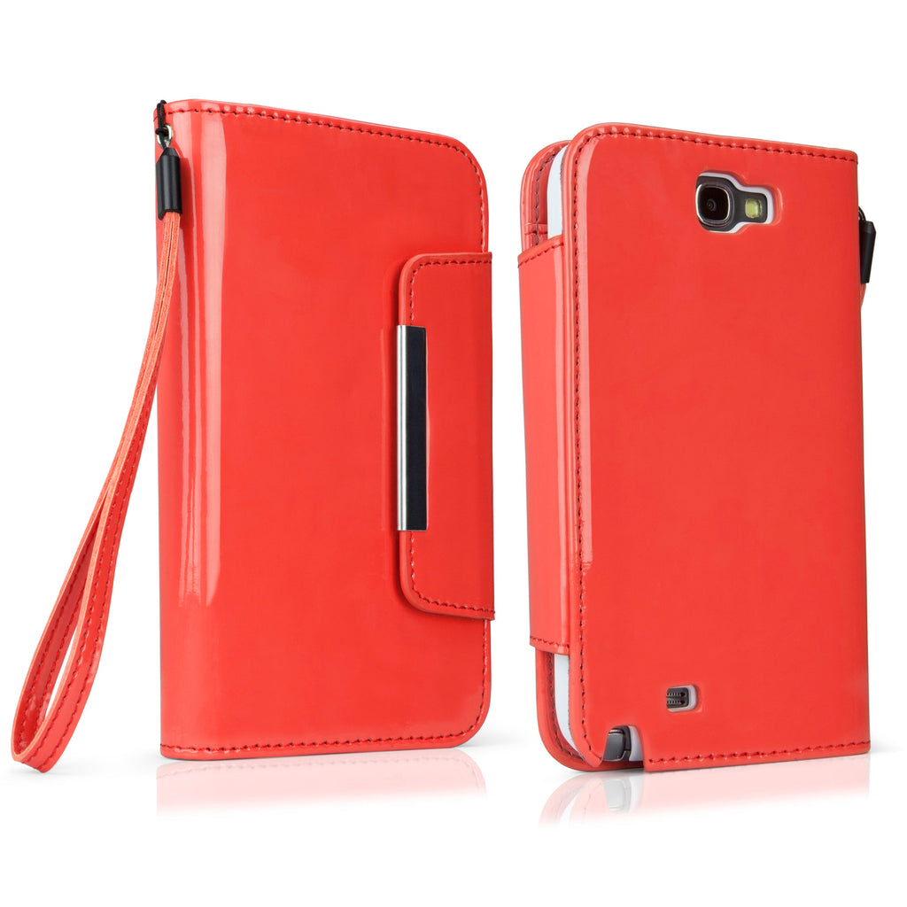 Patent Leather Clutch Galaxy Note 2 Case