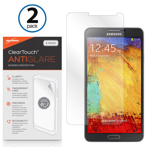ClearTouch Anti-Glare (2-Pack) - Samsung Galaxy Note 3 Screen Protector