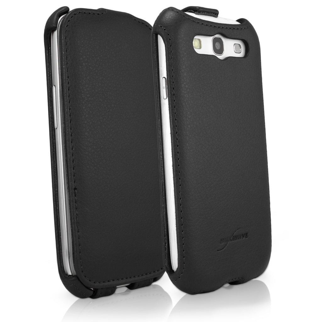 Nero Leather Flip Case - Samsung Galaxy S3 Case