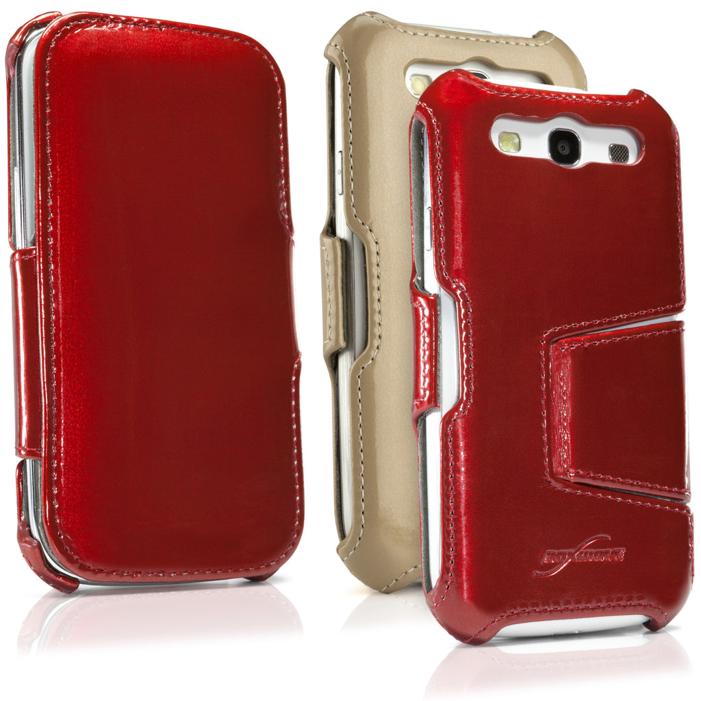 Patent Leather Book Jacket - Samsung Galaxy S3 Case