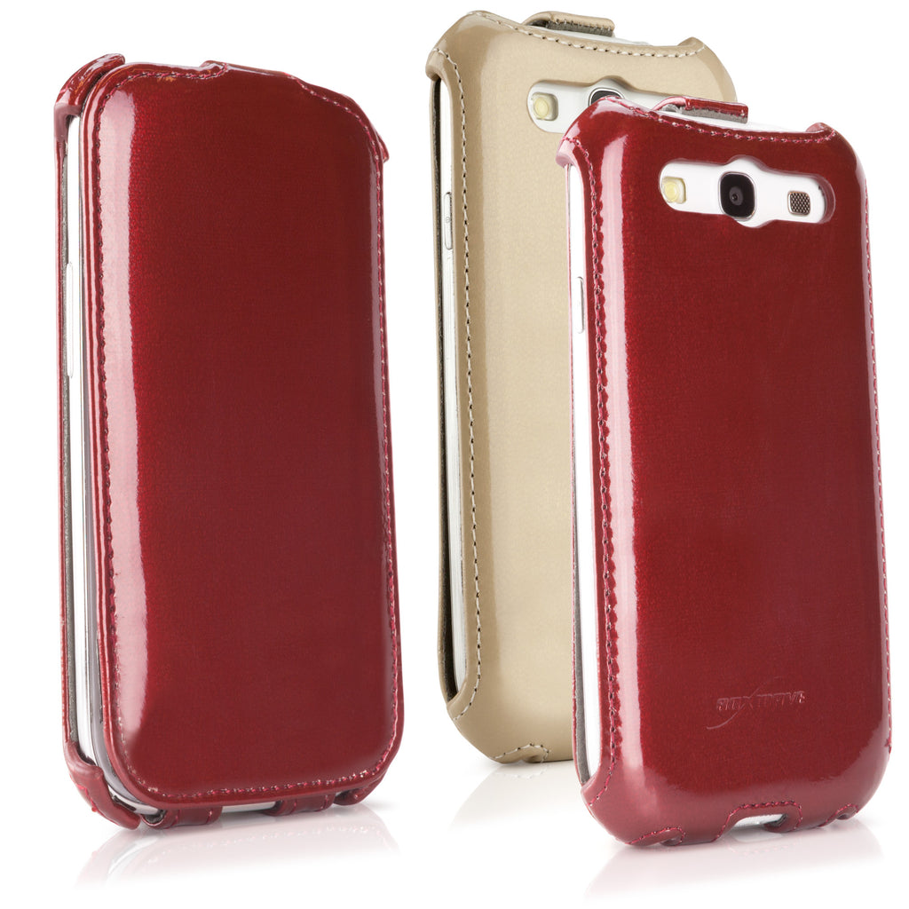 Patent Leather Flip Case - Samsung Galaxy S3 Case
