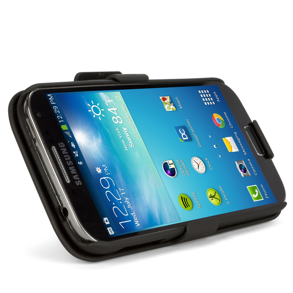 Dual+ Holster Case - BlackWeave - Samsung Galaxy S4 Holster