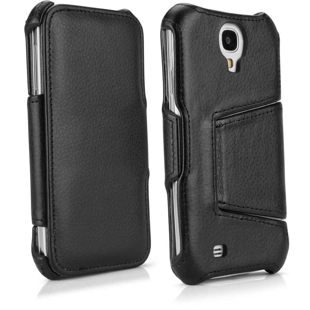 Leather Book Jacket - Samsung Galaxy S4 Case