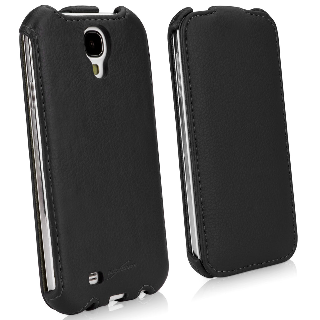 Leather Flip Galaxy S4 Case