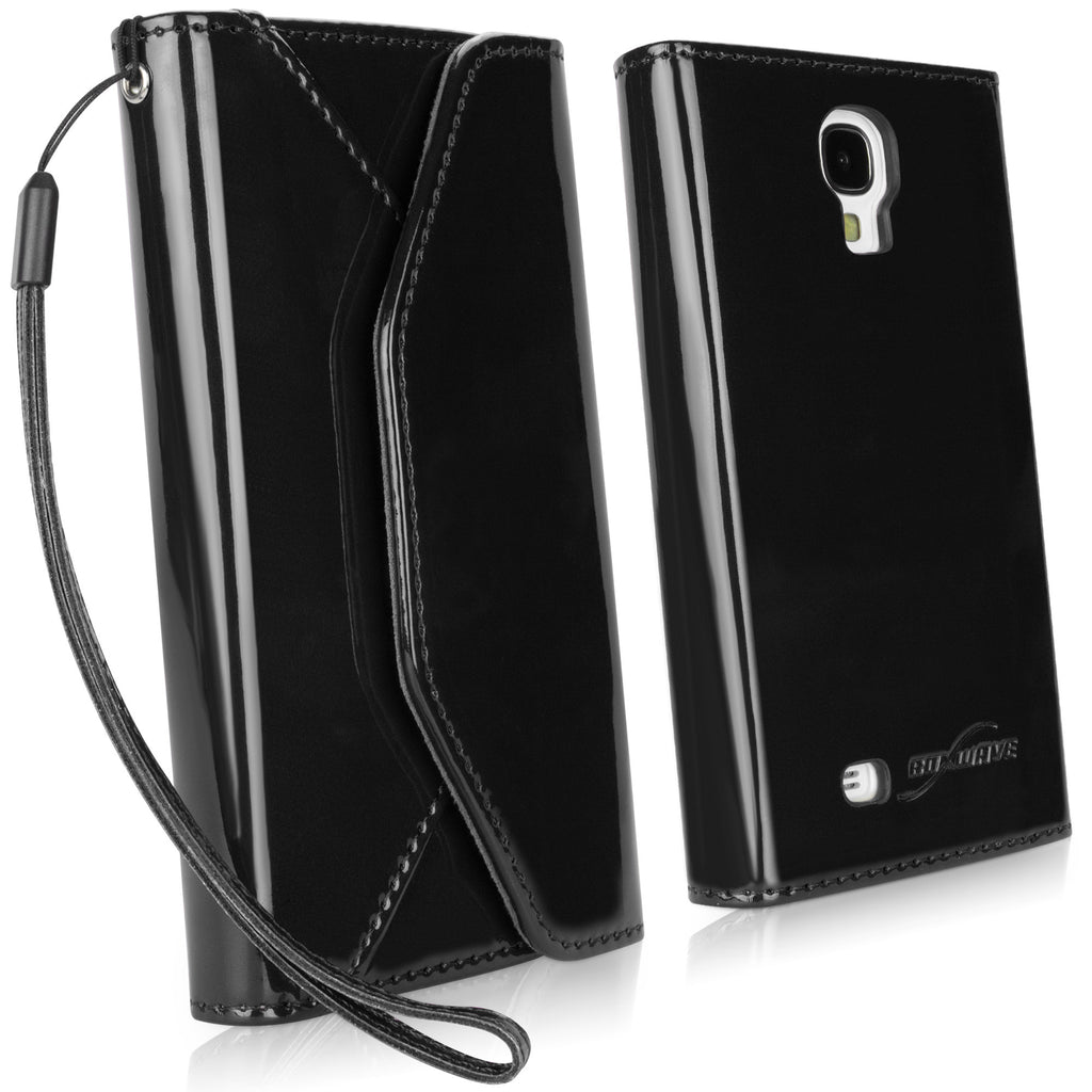 Patent Leather Wallet Galaxy S4 Case