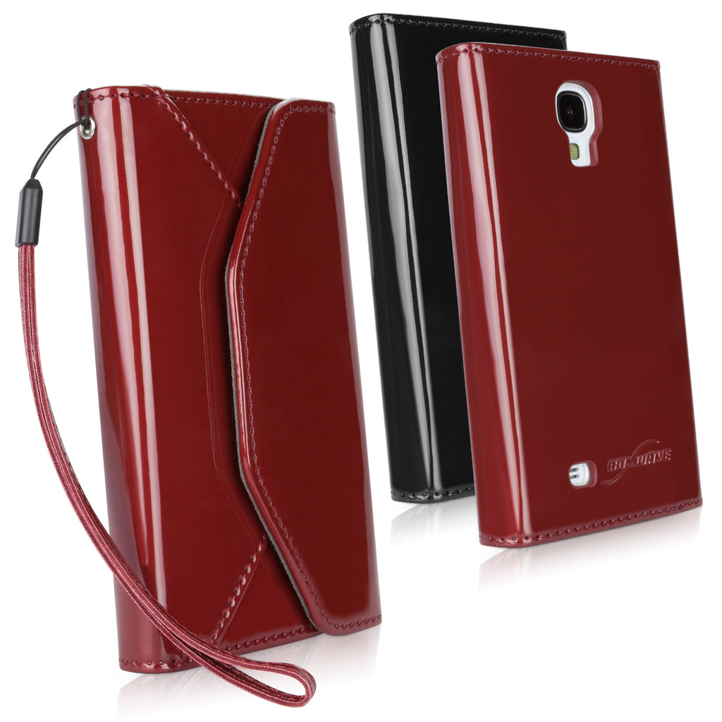Patent Leather Wallet Case - Samsung Galaxy S4 Case