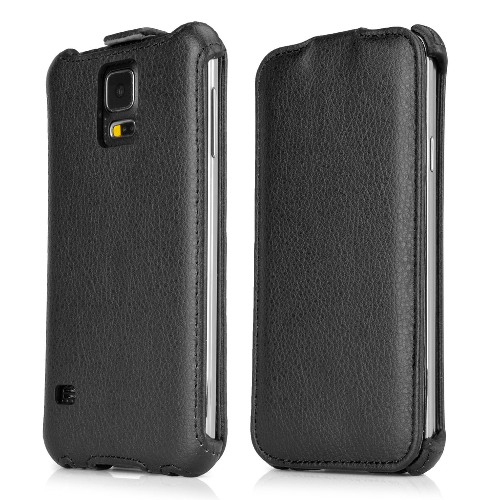 Leather Flip Galaxy S5 Case