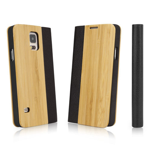 True Bamboo Booklet Case - Samsung Galaxy S5 Case