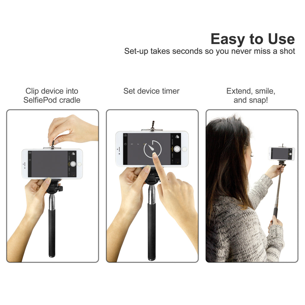 SelfiePod - Samsung Galaxy Note 2 Stand and Mount