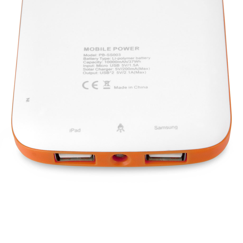 Solar Rejuva PowerPack (10000mAh) - Apple iPhone Battery
