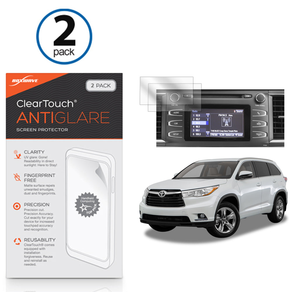 ClearTouch Anti-Glare (2-Pack) - Toyota 2016 Highlander (6.1 in) Screen Protector