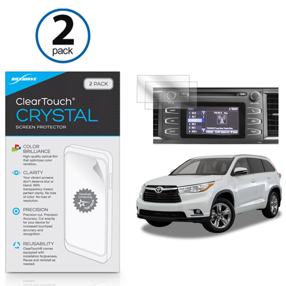 ClearTouch Crystal (2-Pack) - Toyota 2016 Highlander (6.1 in) Screen Protector