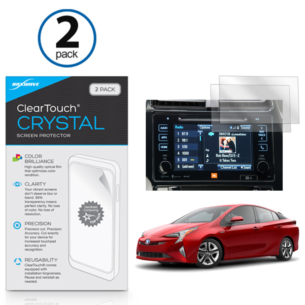 ClearTouch Crystal (2-Pack) - Toyota 2017 Prius (7 in) Screen Protector
