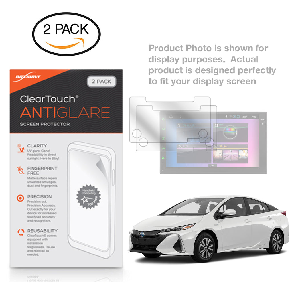 ClearTouch Anti-Glare (2-Pack) - Toyota 2017 Prius Prime (7 in) Screen Protector