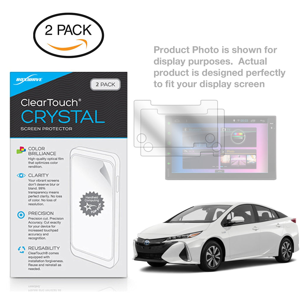 ClearTouch Crystal (2-Pack) - Toyota 2017 Prius Prime (7 in) Screen Protector