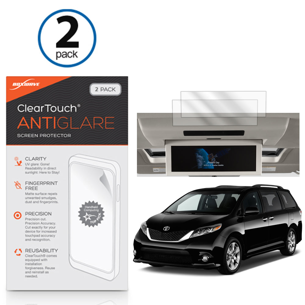 ClearTouch Anti-Glare (2-Pack) - Toyota 2017 Sienna (16.4 in Rear Display) Screen Protector