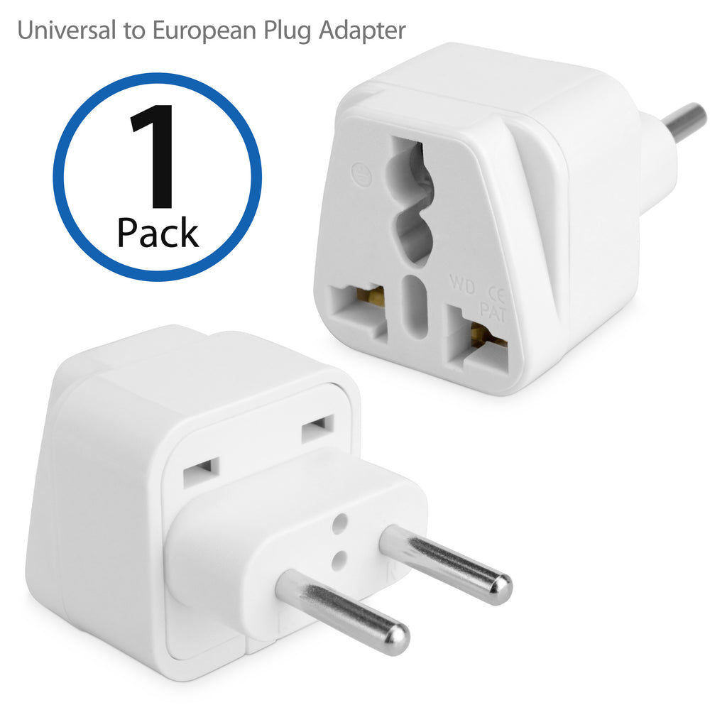Universal to European Outlet Plug Adapter