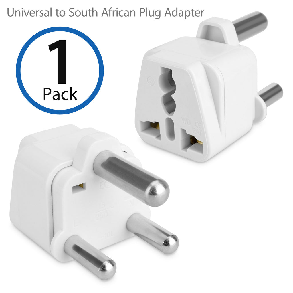 Universal to South African Plug Adapter - With Ground Pin