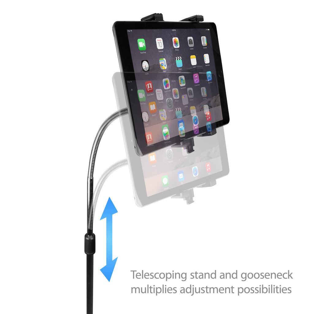 Vantage Tablet Mount Floor Stand - Gooseneck - Amazon Kindle 4 Stand and Mount