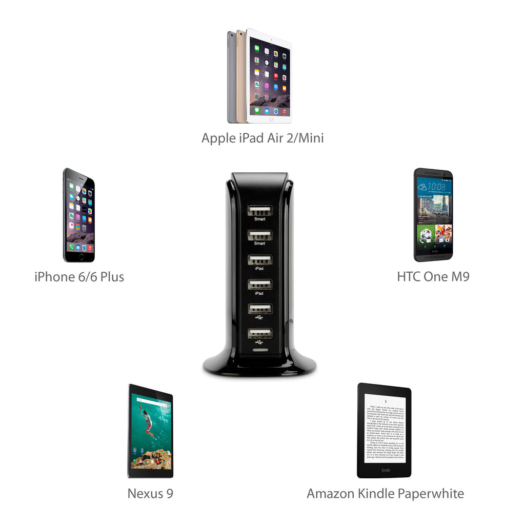 WeShare PowerPort - 6-Port - Motorola Droid X2 Charger