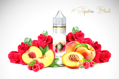 NAKED NAVEL - Exotic - Signatureblends.ca Red and golden roza peaches with a vanlla rose base splashed with rich raspberry sauce.
