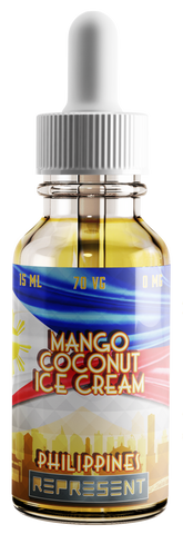 Mango Coconut Ice Cream - Philippines - Signatureblends.ca - An exotic blend of tropical flavors blended perfectly into a creamy delight. The taste of sweet and juicy Philippines Mango with a delicious coconut base gives vapers that sensational creamy feeling we love.