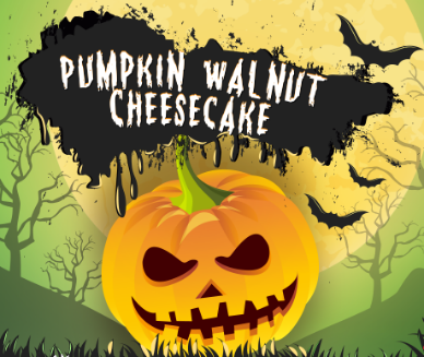Pumpkin Walnut Cheesecake - Halloween - Signatureblends.ca A Classic New York Style Cheesecake drizzled with a rich and creamy pumpkin sauce with a slight hint of walnut.