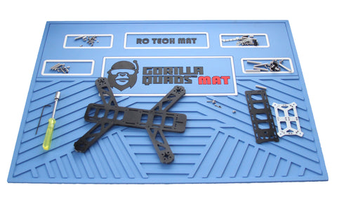 Gorilla Quad TechMat  BLUE 25'' x 19''