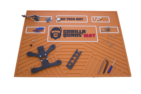 GORILLA QUAD TECHMAT ORANGE 25'' X 19''