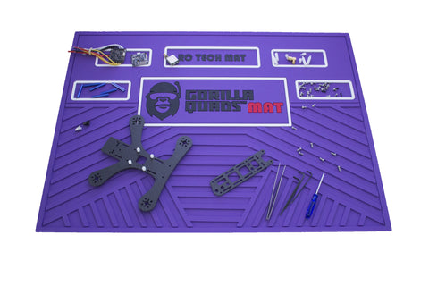 GORILLA QUAD TECHMAT PURPLE 25'' X 19''