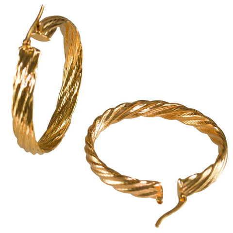 Miami Twist Hoop Earrings 04141040