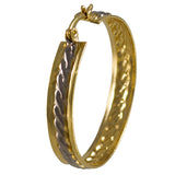 Two-Tone Twisted Hoop Earrings 04502070