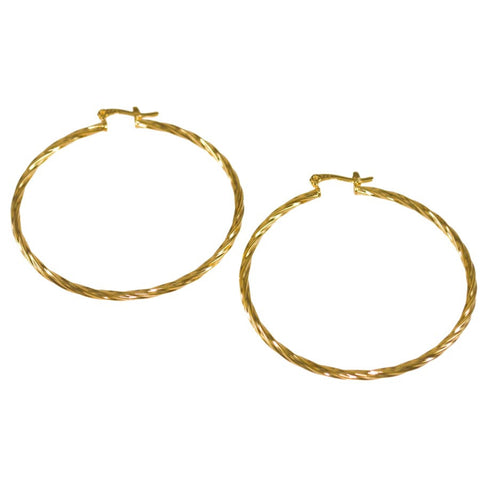 Thin Rope Twist Hoop Earrings 22021030