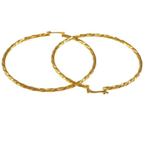 Twisted Hoop Earrings 24021040