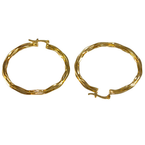 Twisted Hoop Earrings 24023020